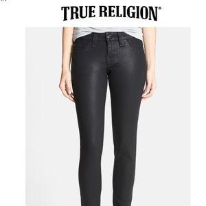 NWT TRUE RELIGION Wax Coated Halle Super Vixen